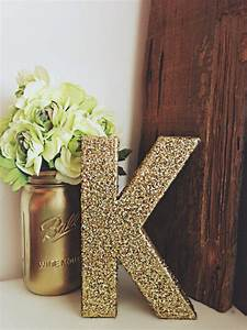 gold glitter letter gold glitter number from ckweddingcrafts With letter e room decor