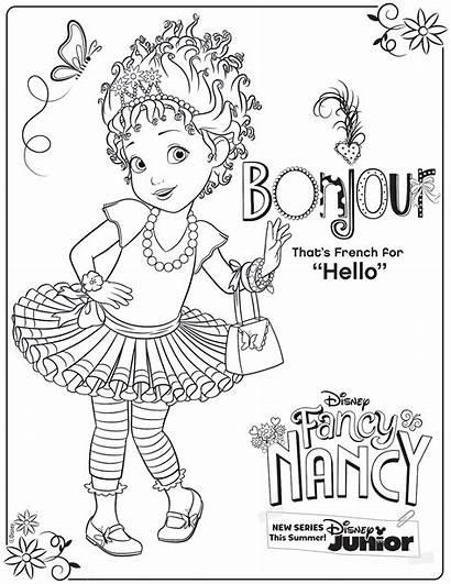 Nancy Fancy Coloring Pages Disney Activity Junior