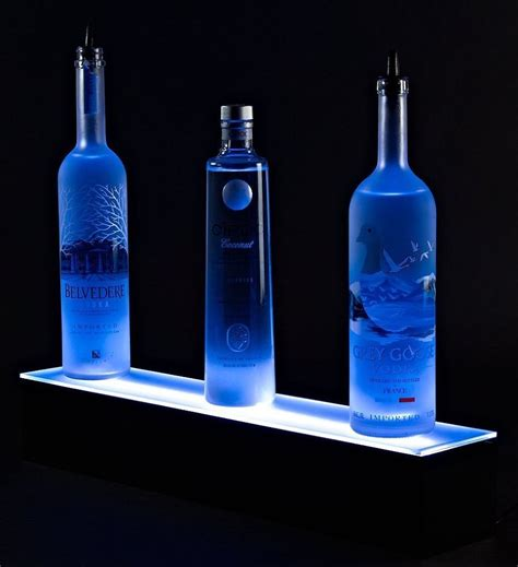 Glasregal Mit Led by Home Bar Lighting 2 Led Lighted Liquor Bottle Display