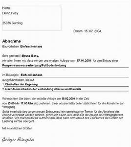 Rechnung Was Muss Drauf : abnahmeprotokoll shkwissen haustechnikdialog ~ Themetempest.com Abrechnung