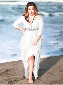 Plus size beach wedding dress fashion belief for Beach plus size wedding dresses