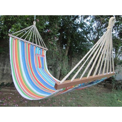 Buy Hammocks buy 11 ft colorful fabric hammock in india