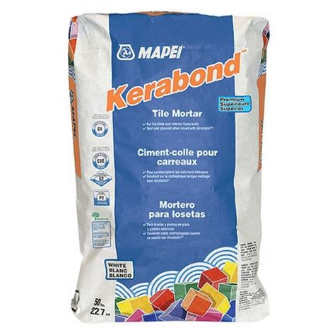 mapei kerabond mapei kerabond white mortar 50lb mortar and thin set floor decor