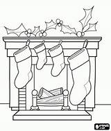 Coloring Printable Sheets Fireplace Chimney Tree Sketch sketch template