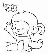 Monkey Coloring Printable Colouring Momjunction Cartoon Animal Clipart Toddler Colored Sheets Simple Bright Clip Coloringbay Whole Child Draw Cdn2 sketch template
