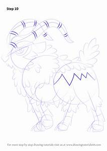 Learn How To Draw Gogoat From Pokemon  Pokemon  Step By