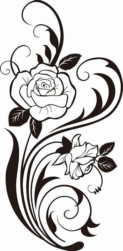 Flower Silhouette Clipart Rose Downloads