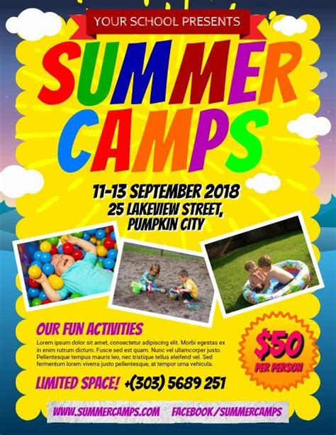 summer camp flyer template    images