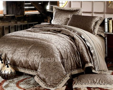 luxury jacquard comforter bedding sets gold duvet cover