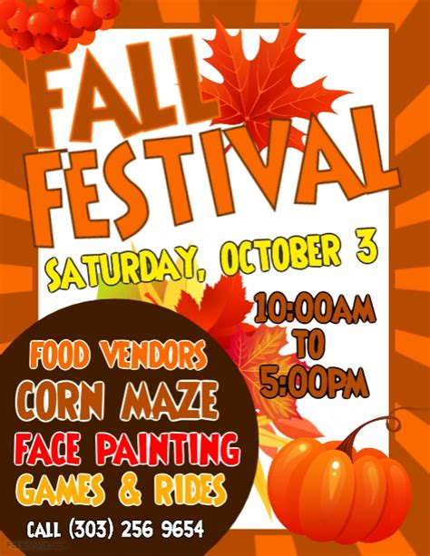 fall festival flyer template copy of fall festival flyer postermywall