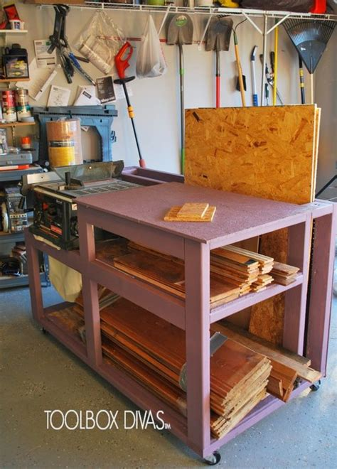 table  workbench  wood storage  toolboxdivas  lumberjockscom woodworking community