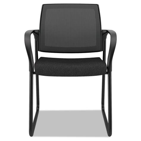 hon 174 ignition series mesh back guest chair with sled base
