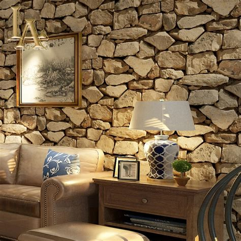buy vintage  brick stone wallpaper