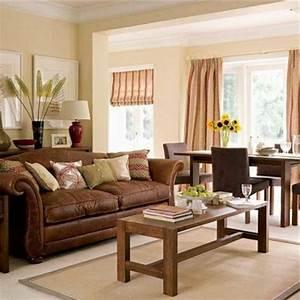 Braunes Sofa Welche Wandfarbe : wohnzimmer rustikal gestalten teil 1 ~ Watch28wear.com Haus und Dekorationen