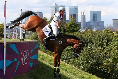 equestrian olympic olympics sports cross country jump rider course livesey alex getty fill