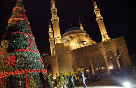 beirut martyrs square christmas tree