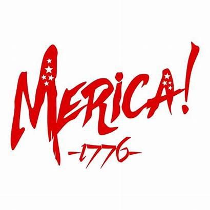Merica Clipart Flag Cuttable Cricut American Vector