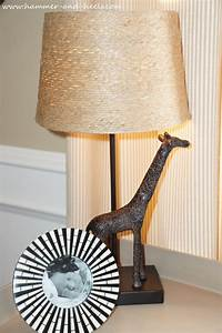 Safari lamp shade nurserychildrens pink bedside lamp for Jungle floor lamp for nursery