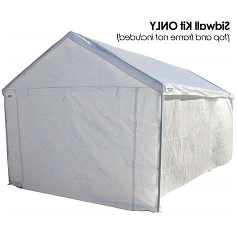 canopy garage side wall kit  car shelter