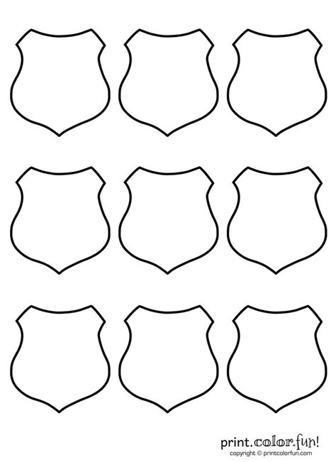 sheriff badge template 4 best images of free printable badge templates printable badge template printable
