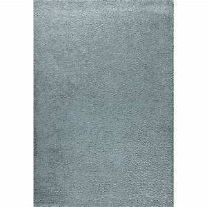 tapis salon shaggy trendy 30mm 120x160 bleu perle achat With tapis salon uni