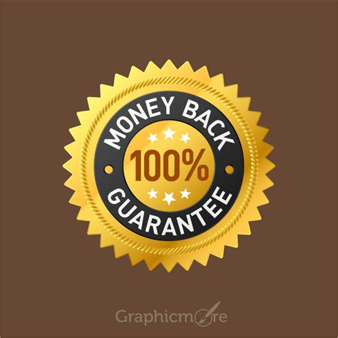 money  guarantee badge design  vector file