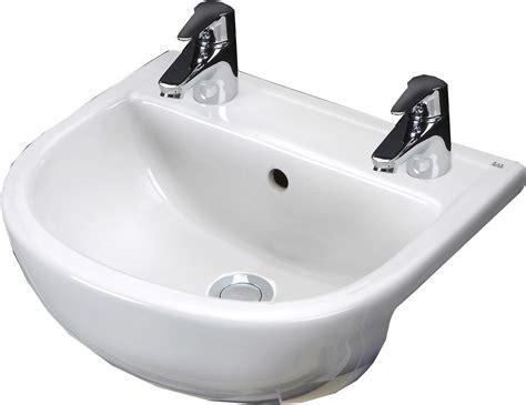 compact mm semi recessed basin  tap holes