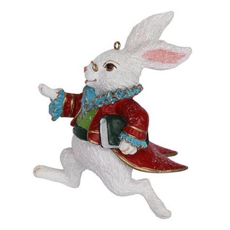 gisela graham white rabbit hanging decoration