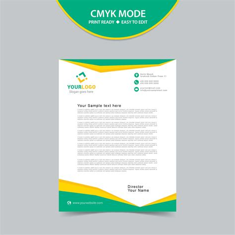 vector letterhead template print ready wisxicom