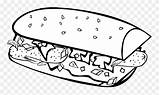 Coloring Pages Clip Pinclipart Sandwich Clipart sketch template