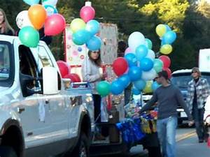 Christmas Parade Float filled with balloons and more