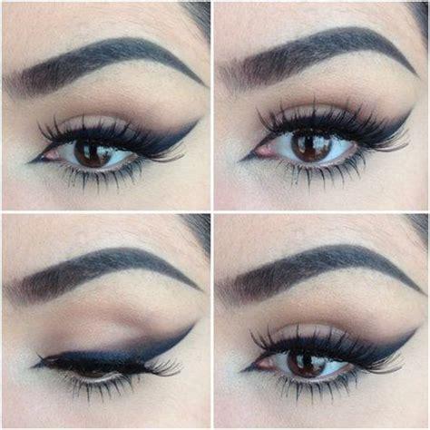 attractive winged smokey eye makeup    pretty designs