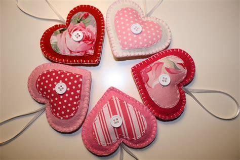 valentine felt heart ornaments decorations