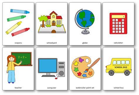 Flashcards Sur Le Matériel De Classe En Anglais  Outils De La Classe En Anglais