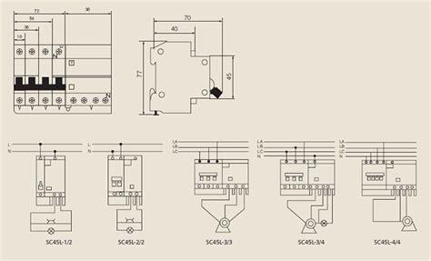 Earth Leakage Circuit Breaker Wiring Diagram by Scb8le Rcd Sc45l Earth Leakage Circuit Breaker China