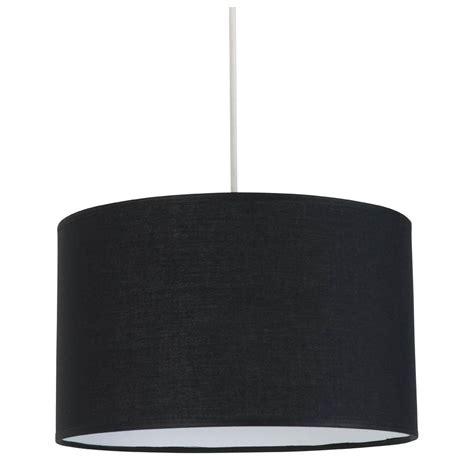 luminaire chambre suspension cylindrique abat jour noir en vente sur le