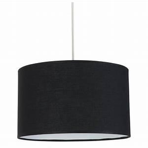 Luminaire Exterieur Pas Cher : suspension cylindrique abat jour noir en vente sur lampe ~ Dailycaller-alerts.com Idées de Décoration