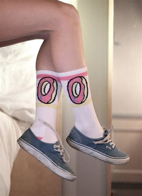 Stretch Covers For Sofas by Odd Future Donut White Amp Pink Crew Socks At Zumiez Pdp