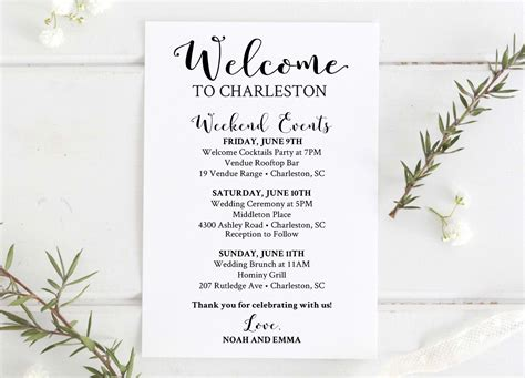 wedding welcome letter template birthday itinerary template mughals