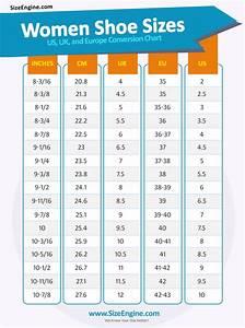 Shoe Size Conversion Charts Sizeengine