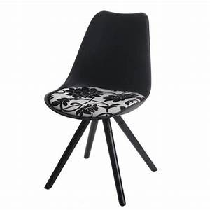Chaise Salle A Manger Noir : lot de 6 chaises scandinaves de salle manger noir pieds noir achat vente chaise noir ~ Teatrodelosmanantiales.com Idées de Décoration