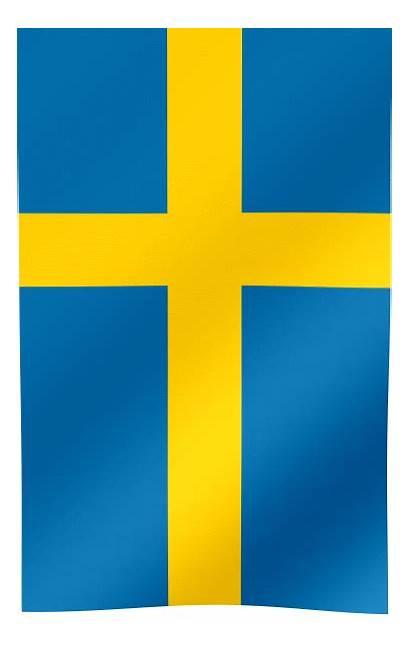 Flag Sweden Waving Vertical Flags Stockholm Capital