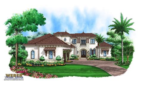Beach House Plan Luxury Mediterranean Coastal Home Floor Plan