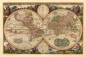 World Antique Map IXSZ Throughout Vintage Maps : Vintage ...
