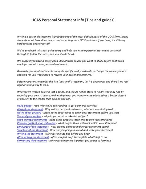 How To Write A Personal Statement For by How To Start Personal Statement For Ucas