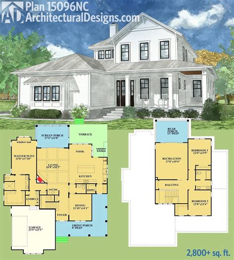 plan nc country home  spacious front  rear