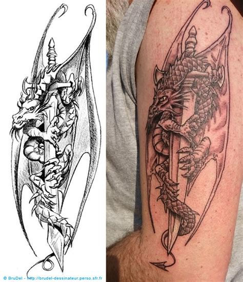 Tatouage Dragon  Brudel Dessinateur, Illustrateur, Coloriste