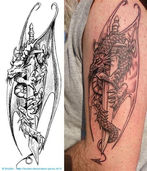 tatouage dragon brudel dessinateur illustrateur coloriste