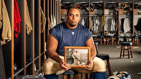 nfl rams center jason brown grieves  brothers death