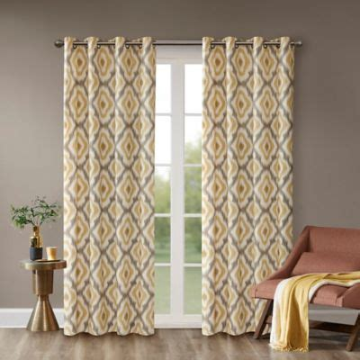 buy yellow panel curtains  bed bath